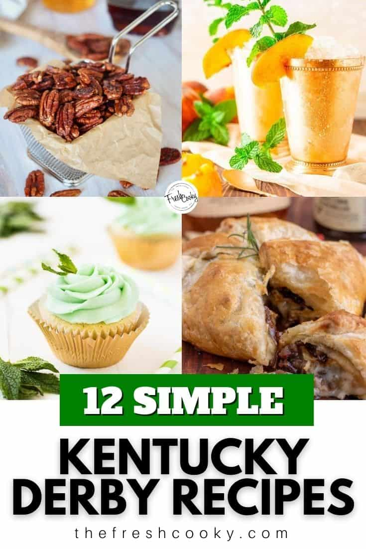 A refreshing collection of 12 Kentucky Derby Party Recipes. These Bourbon and whiskey inspired recipes are perfect for your Derby Party recipe needs! Recipes via @thefreshcooky | #kentuckyderby #derbyparty #bourbon #whiskey #appetizers #desserts #drinks  via @thefreshcooky