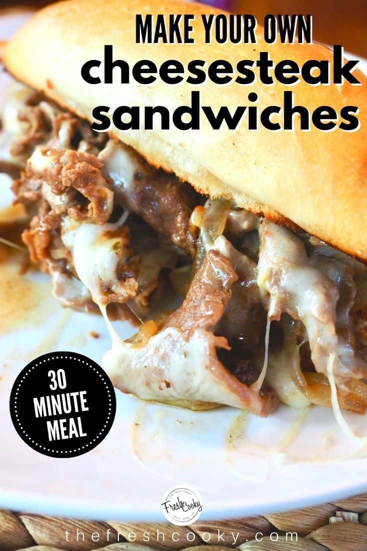 This Best Cheesesteak recipe is made with tender thin steak, caramelized onions, simmered ever so quickly in an amazing sauce, then smothered in melted cheese and served on a toasted hoagie roll. Grab the ultimate cheesesteak recipe via @thefreshcooky | #cheesesteak #phillycheesesteak #phillycheesesteakrecipe #beef #ribeyesteak #sandwichrecipes #easydinnerrecipes #easydinner #30minutemeal #easydinnerideas #cheese via @thefreshcooky