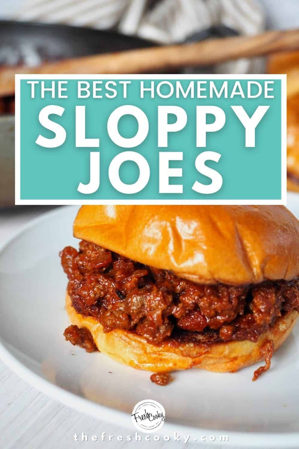 Brown Sugar Bacon Sloppy Joes are the best...EVER! With a  homemade rich, tomato sauce. Easy recipe via @thefreshcooky | #sloppyjoes #bacon #sloppyjoe #burger #sandwich #manwich #glutenfree #30minutemeal #easydinner #dinner #weeknight via @thefreshcooky