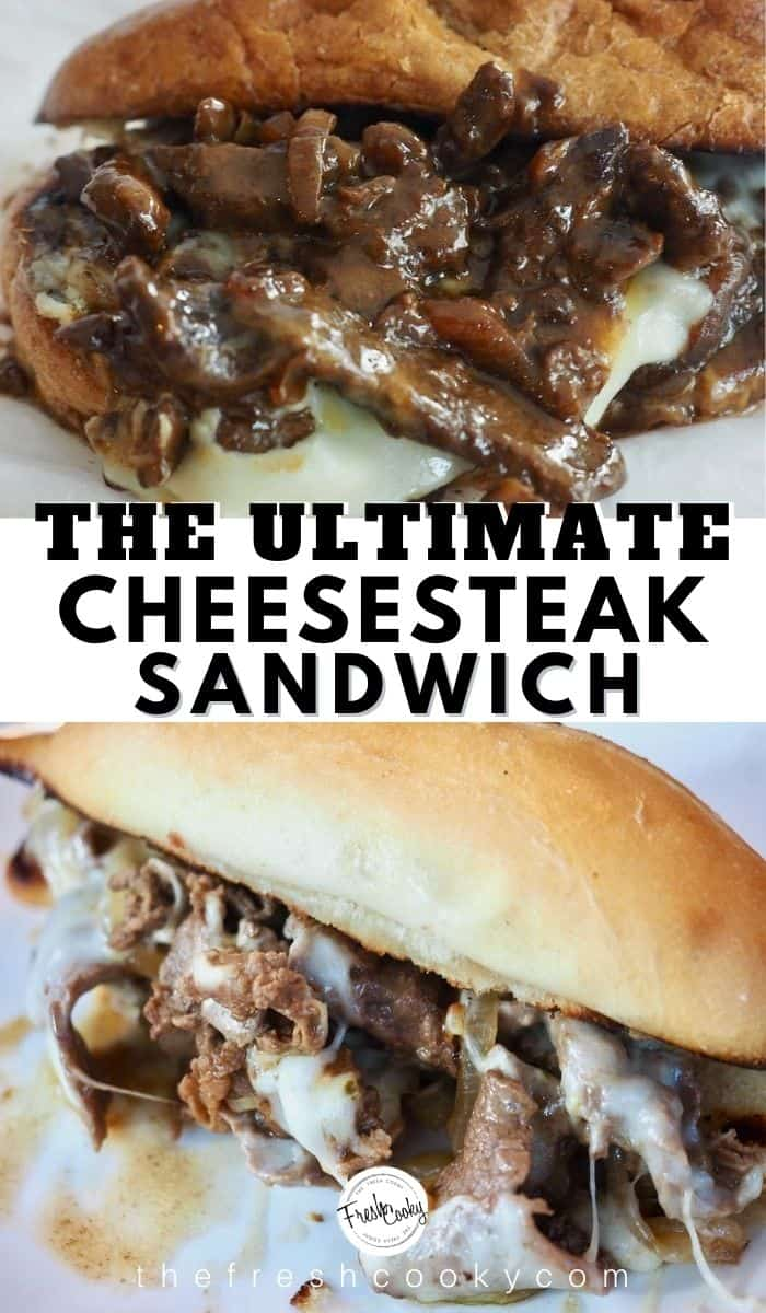 This Best Cheesesteak recipe is made with tender thin steak, caramelized onions, simmered ever so quickly in an amazing sauce, then smothered in melted cheese and served on a toasted hoagie roll. Grab the ultimate cheesesteak recipe via @thefreshcooky | #cheesesteak #phillycheesesteak #phillycheesesteakrecipe #beef #ribeyesteak #sandwichrecipes #easydinnerrecipes #easydinner #30minutemeal #easyweeknightmeal #cheese via @thefreshcooky