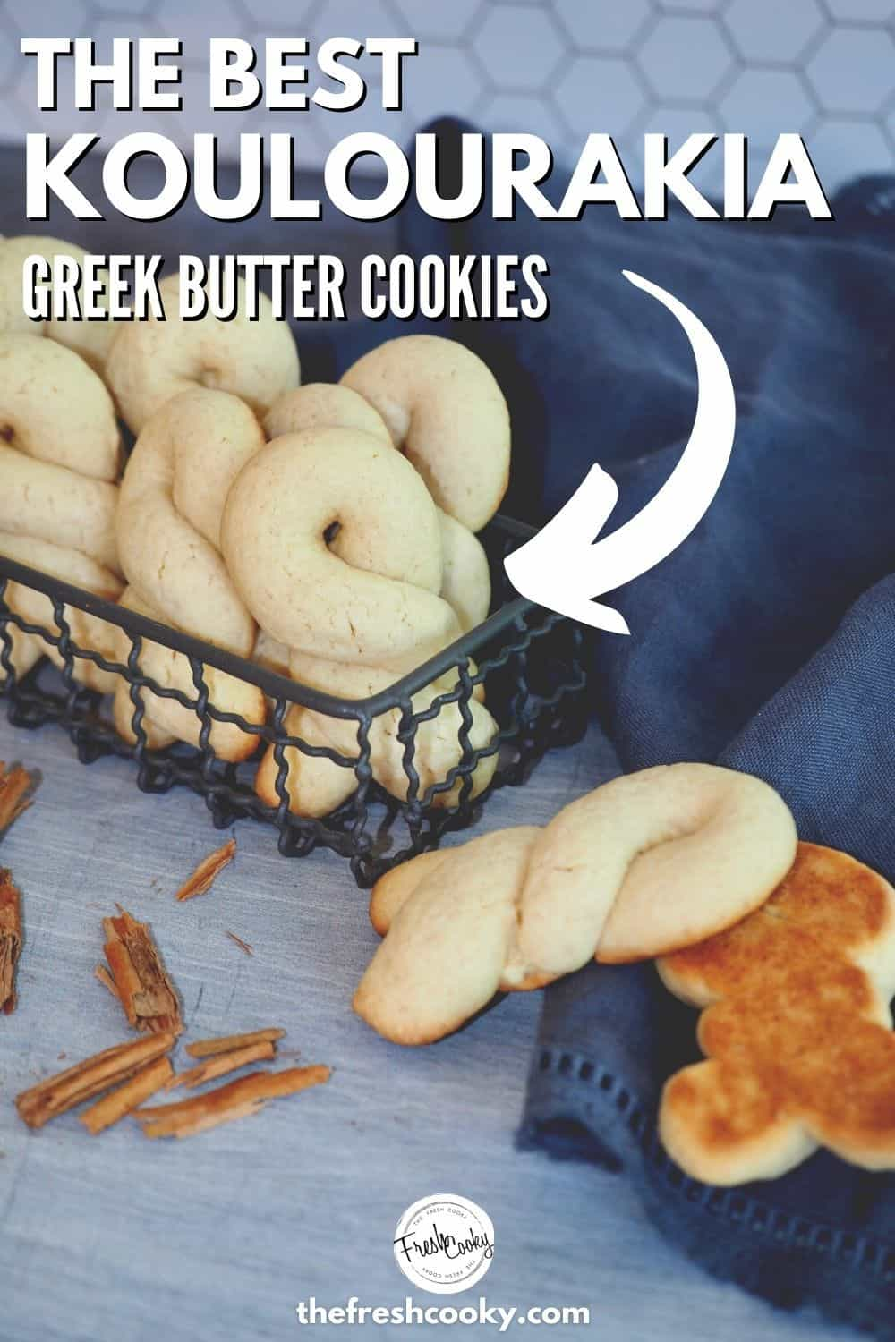 Greek Butter cookies also called Koulourakia are a traditional Greek Cookie, made at Easter and Christmas. Tender, buttery pastry like cookies that are shaped into twists, braids and crescents. Great dunking cookies! #thefreshcooky #koulourakia #greekcookies via @thefreshcooky