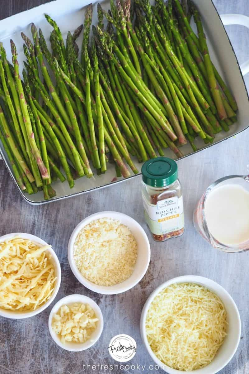 Simple prep ahead for Cheesy Baked Asparagus