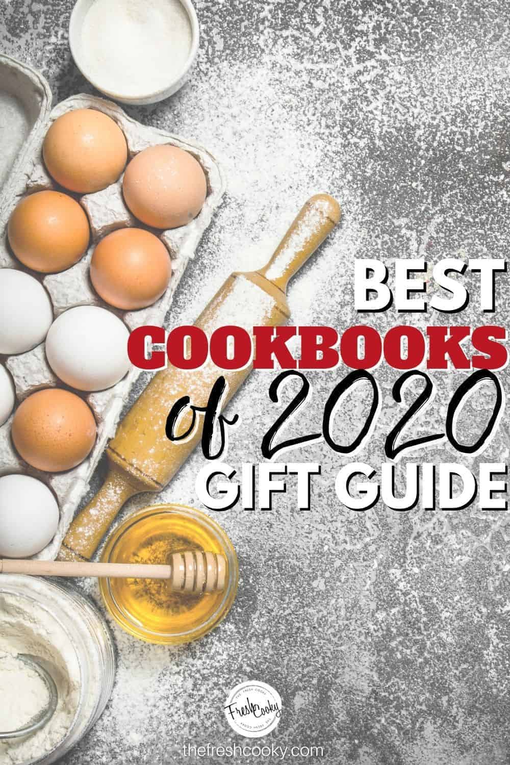 A collection of our favorite cookbooks for 2020, the best cookbooks for beginners, intermediates and experts. Best cookbook gift guide. #thefreshcooky #giftguides #bestcookbooks via @thefreshcooky