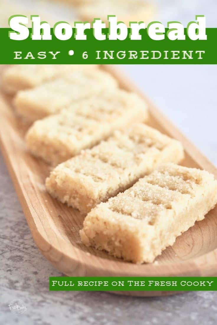 These are  the BEST Classic Shortbread cookie recipe from The Fresh Cooky. Our family has been making this recipe for decades, received from a Scottish family friend. Buttery, light and crumbly. Buttery, traditional Scottish shortbread recipe. #thefreshcooky #shortbreadcookies #easychristmascookies via @thefreshcooky