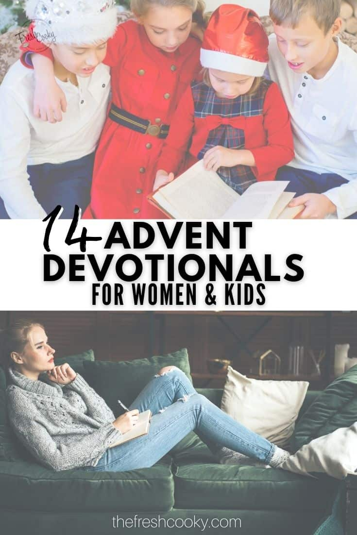 14+ of the best family advent devotional books and ideas for women. #thefreshcooky #familyadventdevotional #adventideas via @thefreshcooky