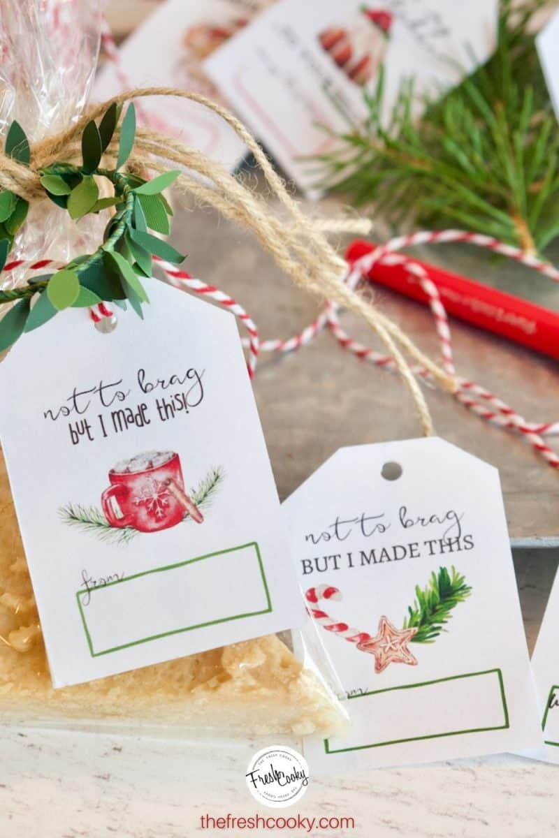 Not to Brad gifts tags on packages for Christmas, free printable gift tags
