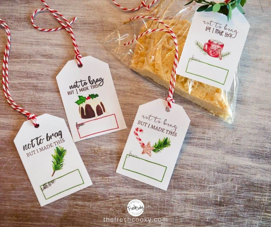 Facebook image of Not to Brag but I made this Gift Labels
