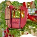 Vail Gondola Ornament on Christmas tree
