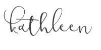 signature of Kathleen, The Fresh Cooky Recipe developer