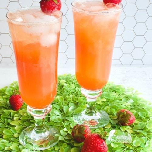 Fresh Strawberry Gin Cocktail