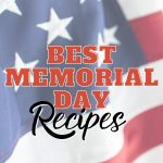 MEMORIAL DAY recipees with flag behind.