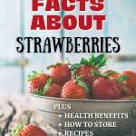 A pin for Fun facts about Strawberries with how to wash, how to store, health benefits and recipes.