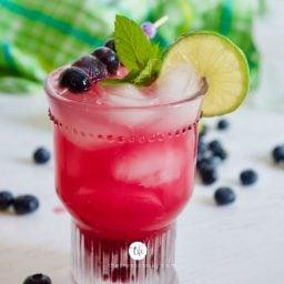 Easy Blueberry Limeade Drink
