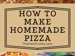 The complete guide for how to make homemade pizza with images for homemade pizza sauce, homemade pizza dough, baked pizza in oven and grilled pizza.